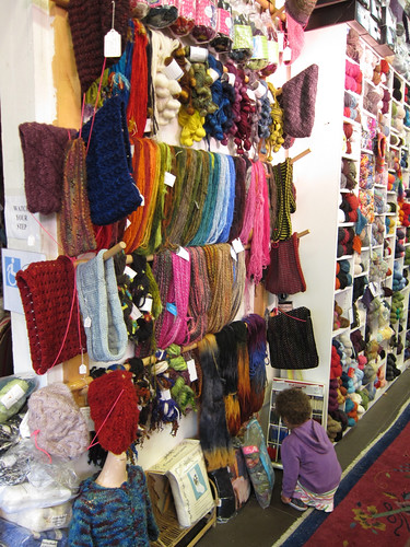 Imagiknit display wall & darning yarns