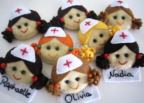 ♥♥♥ Enfermeirinhas, enfermeirinhas, enfermeirinhas ... by sweetfelt \ ideias em feltro