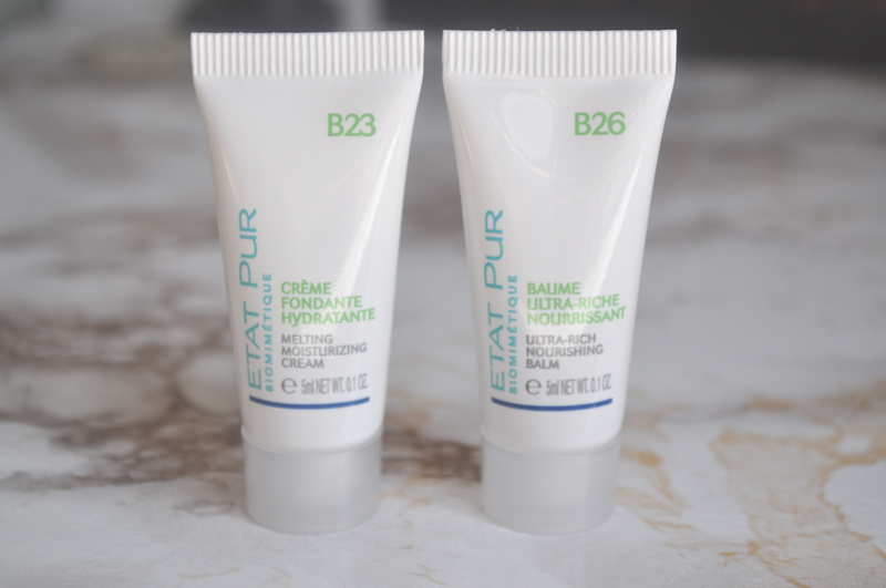 etat pur B23 melting moisturising cream B26 ultra rich nourishing balm