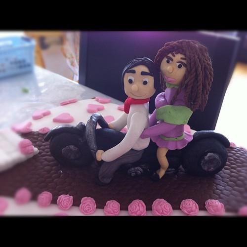Motorsikletli nişan pastasi by l'atelier de ronitte