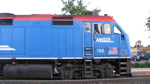 Eastbound Metra evening local commuter train.  La Grange Illinois. May 2012. by Eddie from Chicago