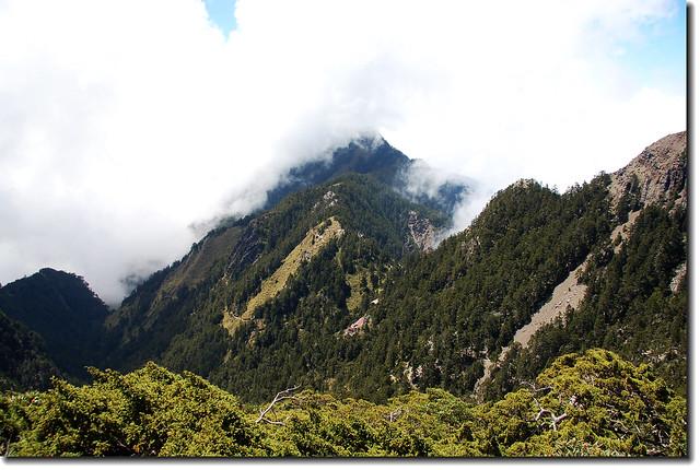 霧罩玉山西峰