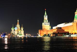 Cathédrale Saint Basile et Kremlin sur la Place Rouge
