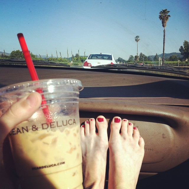 Iced coffee & sunshine.