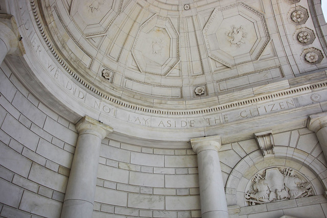 South rear and vault of apse - Memorial Amphitheater - Arlington National Cemetery - 2012-05-19
