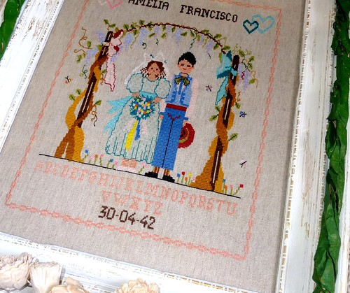 Wedding cross stitch pattern