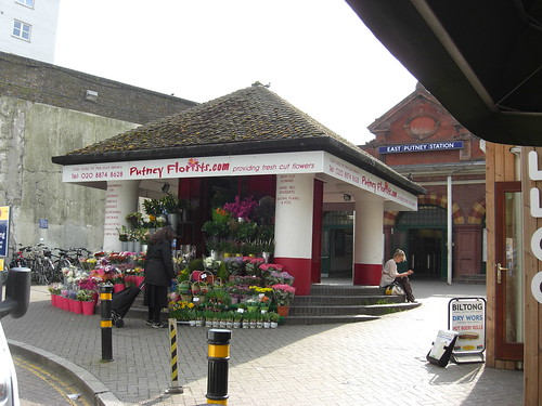 Putney Florists outside East Putney station