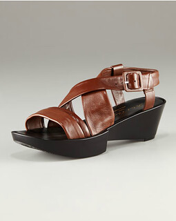 Robert Clergerie Malva Crisscross Wedge Sandal NM Retail $450 on sale for $301