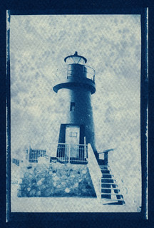 blue postcard - Lighthouse