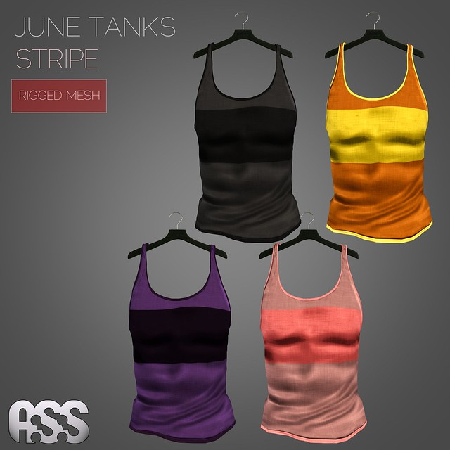 A:S:S - June tank tops - stripe (MESH)