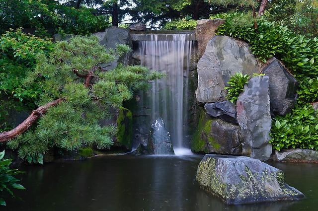 Waterfall, Japanese Garden   Minnesota Landscape Arboretum
