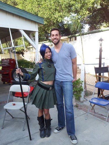 On set with Zachary Levi!