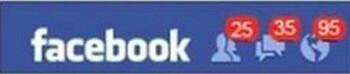 Facebook lekkers in rood