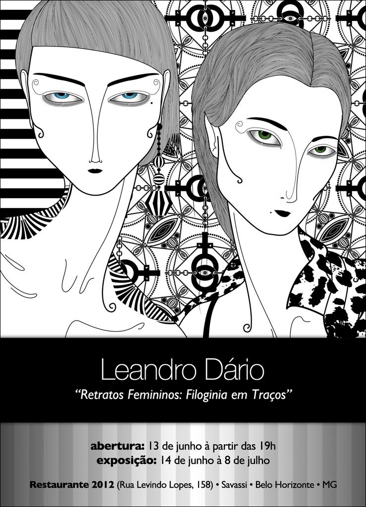 Leandro Dário expõe em BH a sua individual Retratos Femininos: Filoginia em Traços
