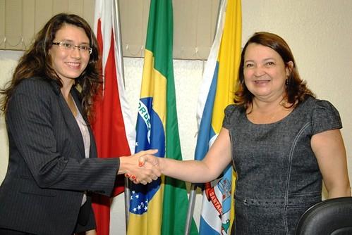 A prefeita titular e a prefeita juíza.Foto Ronaldo Ferreira