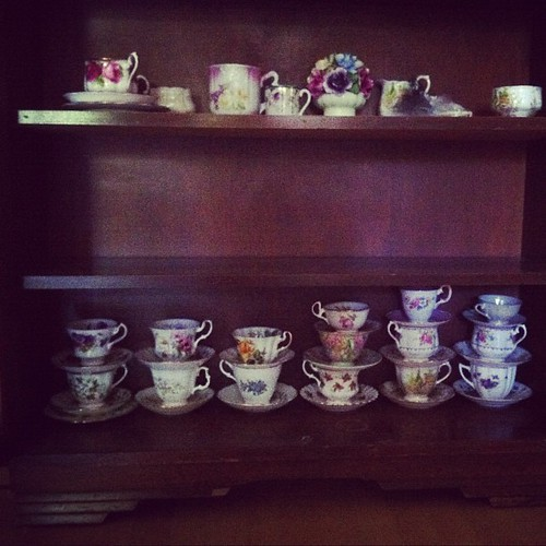 It has occurred to me, mid-packing, that I might possess more teacups than the average girl.