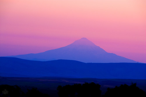blue goldendale washington pink unitedstates columbiagorgephotosetsy mt hood mthood oregon layered twilight evening bluehour