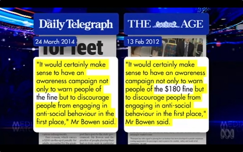 Media Watch: Daily Telegraph copied quotes