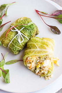 Cabbage rolls with quinoa