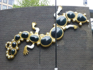 Salamander on the Museum of London