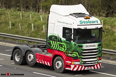 Scania R440 6x2 Tractor - PK63 BWA - Amber Millie - Eddie Stobart - M1 J10 Luton - Steven Gray - IMG_7055