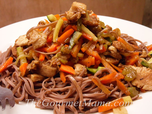 Soba Noodles with Sesame Soy Chicken