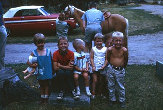 Cousins at Farm - July 1966
