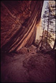 White canyon, near the Sipapu Bridge Natural Bridges National Monument, 05/1972.