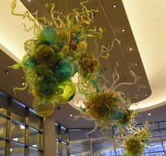 Ceiling Glass sculptures