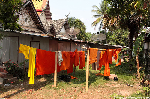 Monk laundry out to dry