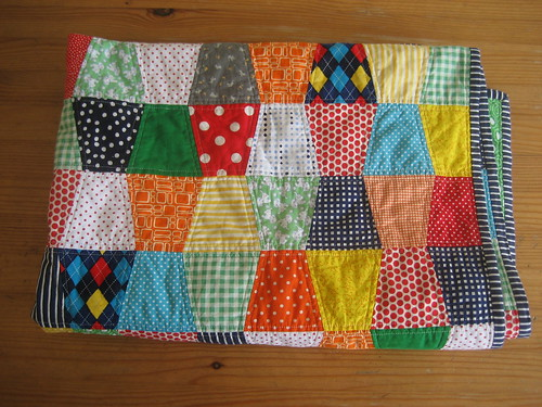 baby boy tumbler quilt folded