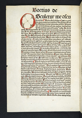 Decorated initial in Boethius [pseudo-]: De disciplina scholarium