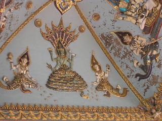 Ceiling detail Patuxai Arch