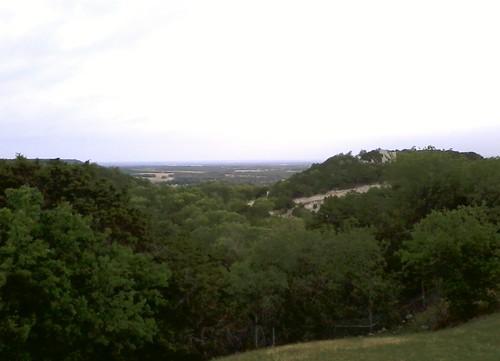 mountain sunrise chalk picnic texas view area