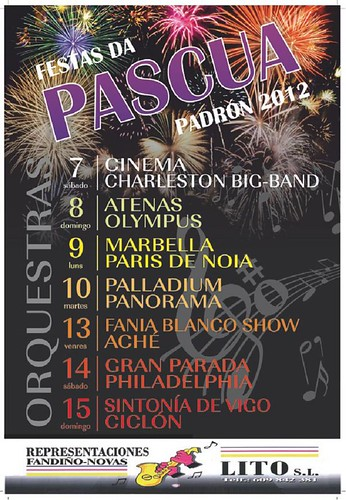 Padrón 2012 - Pascua - cartel orquestras