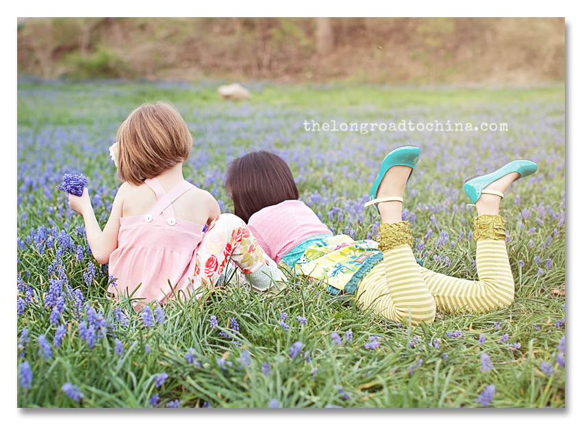 Sarah and Ava Picking Blue bells BLOG