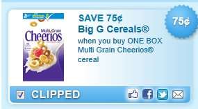 Multi Grain Cheerios Coupon
