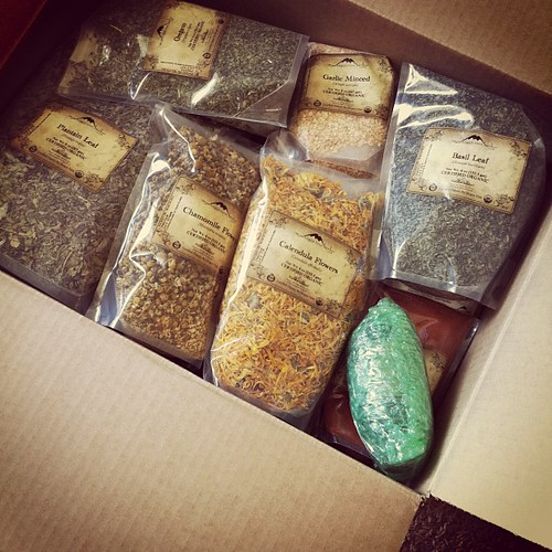 Second herb delivery this week! Only about 25 pounds in this box. :-)