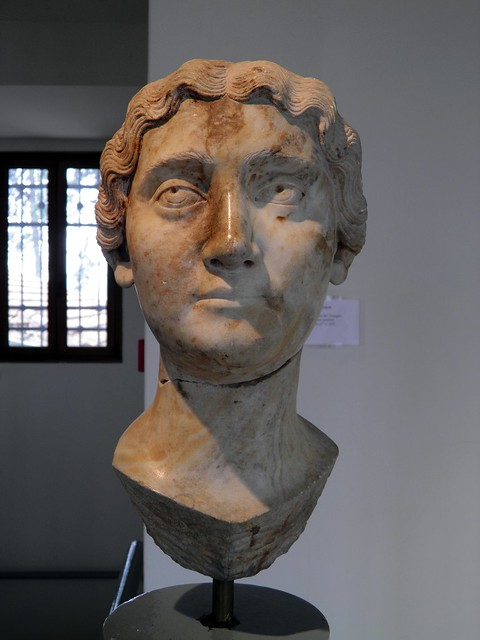 Portrait of Faustina the Younger, wife of the Roman emperor Marcus Aurelius, 2nd century AD, Archaeological Museum, Dion