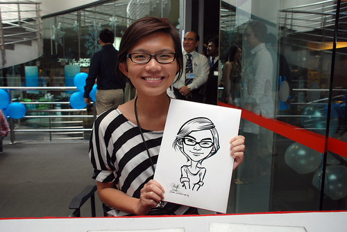 Caricature live sketching for Singapore Suntec City Annual Party - 9