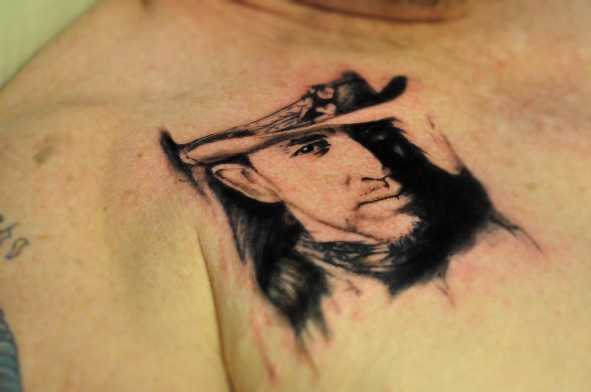 Srv tattoo in progress flickr photo sharing for Stevie ray vaughan tattoo