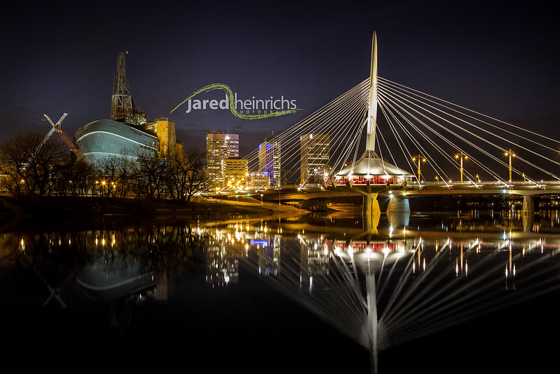 Provencher Bridge & Human Rights Museum Winnipeg 01