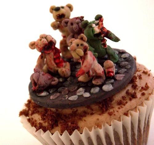 Teddy Bear Zombie Mob Cupcake
