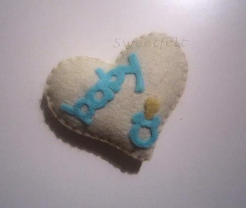 ♥♥♥ Um dos miminhos que costumo enviar aos clientes com cheirinho a alfazema do meu jardim... by sweetfelt \ ideias em feltro