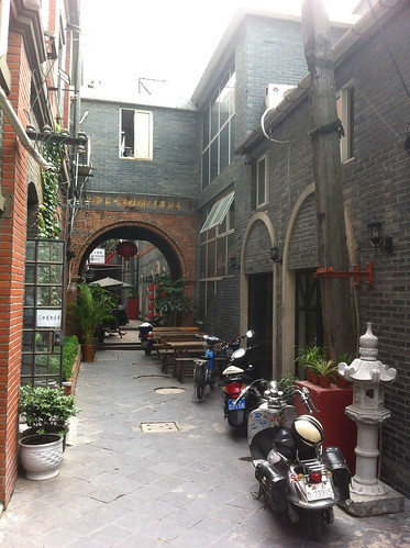 The former Tudou office on the Suzhou Creek is now a youth hostel