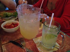 On our 2nd pitcher of Margaritas. Talking Jell-o shots, Doctor Who and how horrible the new Foursquare app is