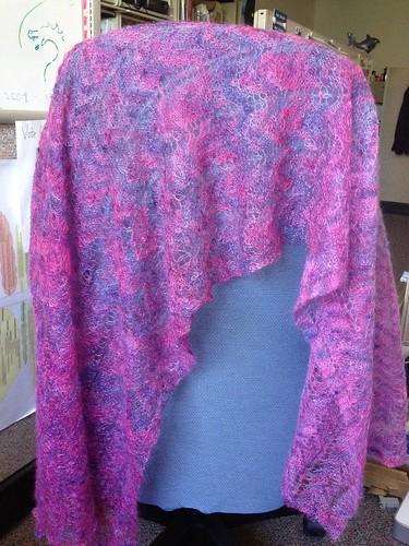 shawl on chair