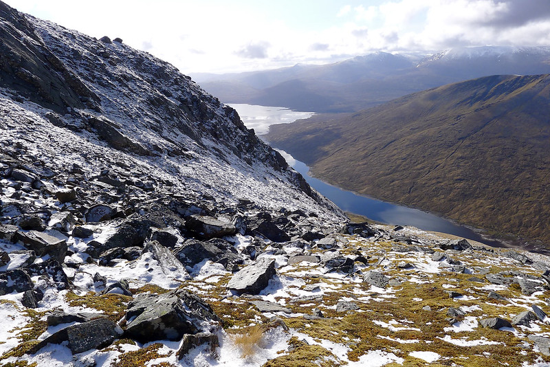 Loch Monar from the ascent of Sgurr nan Conbhaire