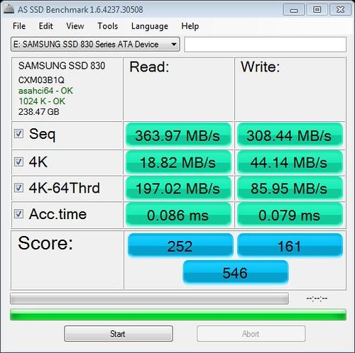 Benchmark: Single Samsung SSD