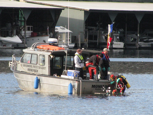USEPA divers aboard the Monitor